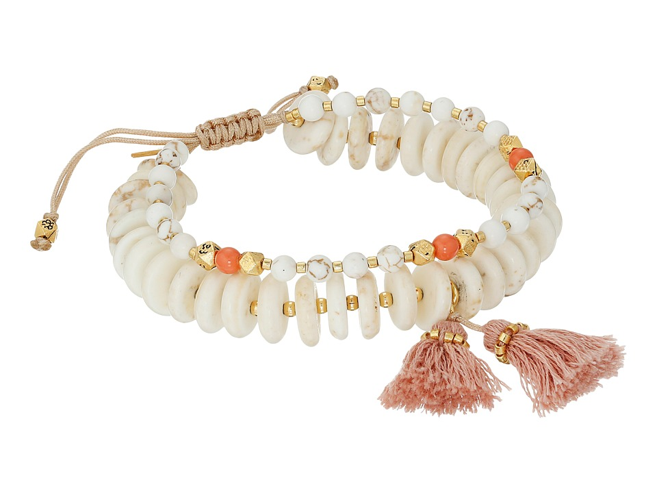 Chan Luu - 6' Adjustable Light Blue Mix Double Strand Single Bracelet (White Mix) Bracelet