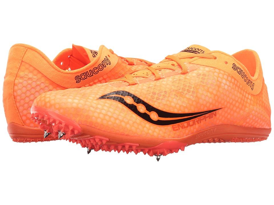 Saucony - Endorphin (Vizi Orange/Black) Men's Running Shoes