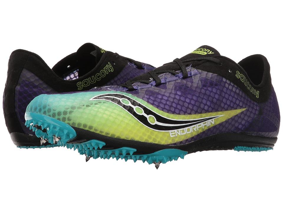 Saucony - Endorphin (Purple/Citron/Black) Men's Running Shoes