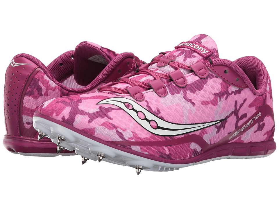 Saucony - Vendetta (Pink/White) Women's Running Shoes
