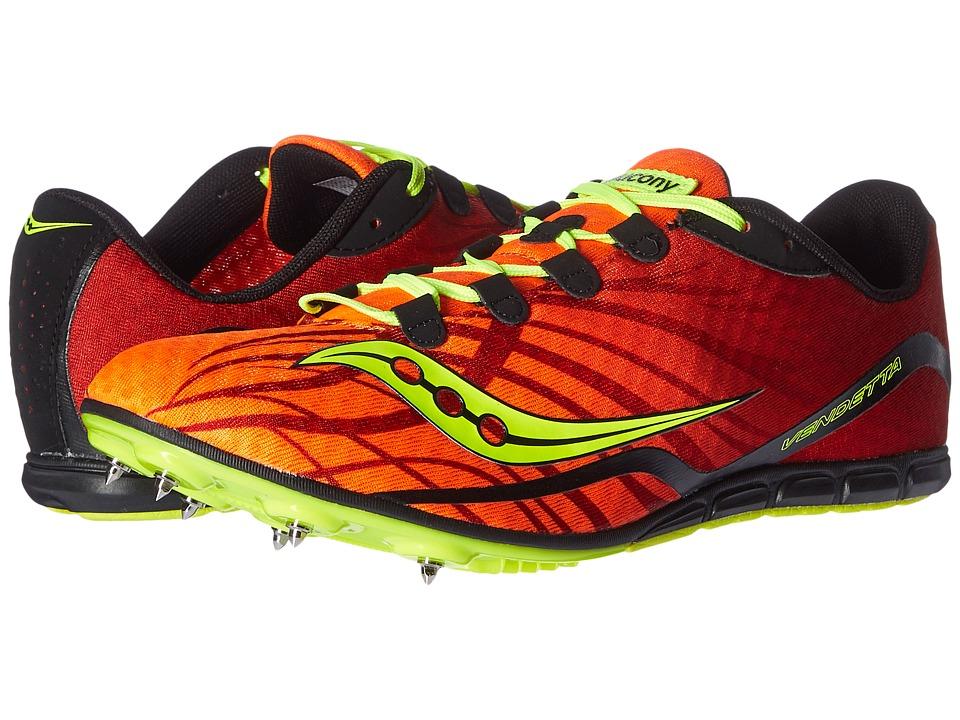 Saucony - Vendetta (Orange/Citron) Men's Running Shoes