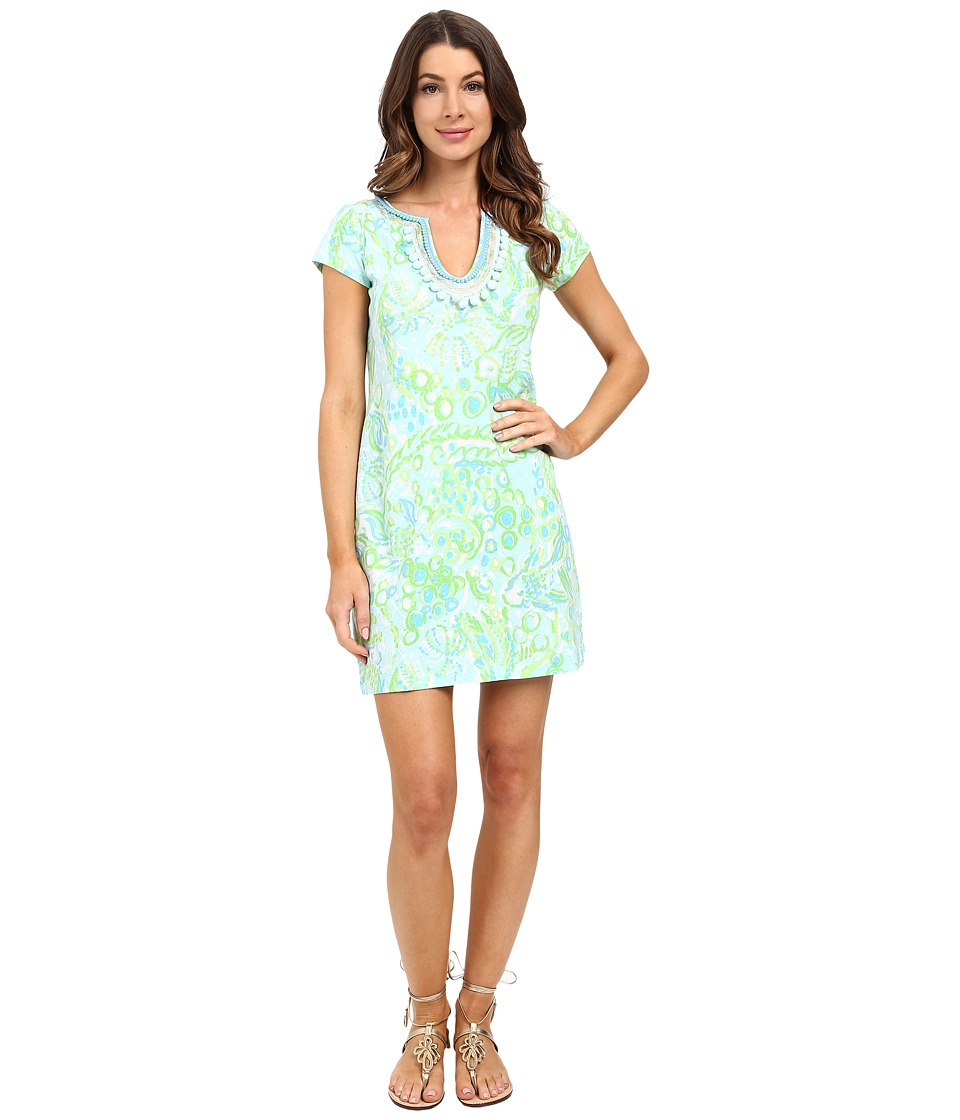 Lilly Pulitzer - Harper Dress (Pool Blue Any Fins Possible) Women's Dress
