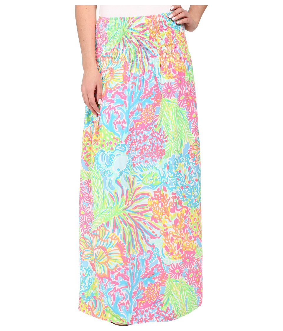 Lilly Pulitzer - Bohdi Maxi Skirt (Seaspray Blue Lovers Coral) Women's Skirt