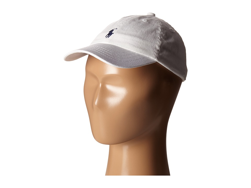 Ralph Lauren Baby - Cotton Classic Cap (Infant) (White) Caps