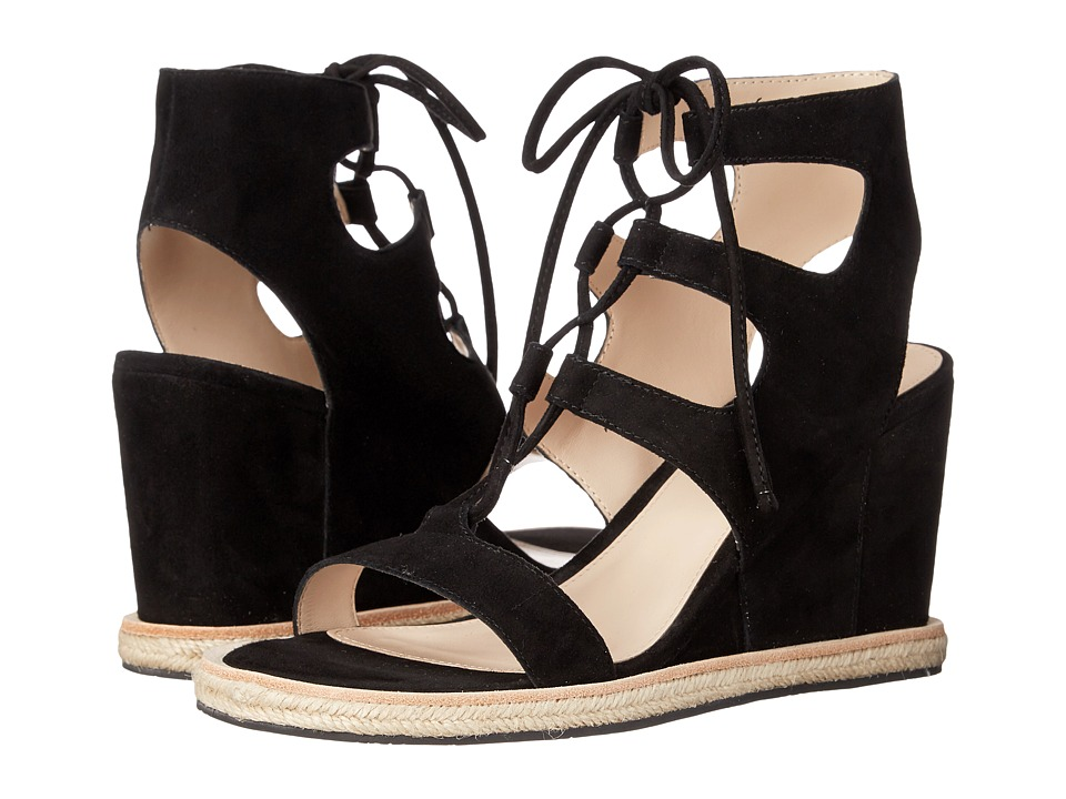 Pelle Moda - Kyra (Black Suede) Women's Wedge Shoes