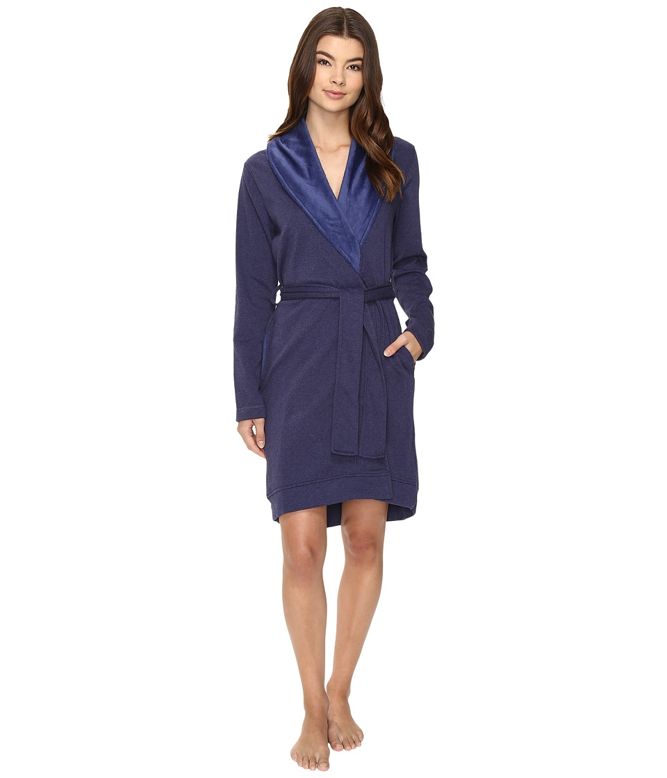 UGG - Blanche Robe (Dark Pajama Blue Heather) Women's Robe