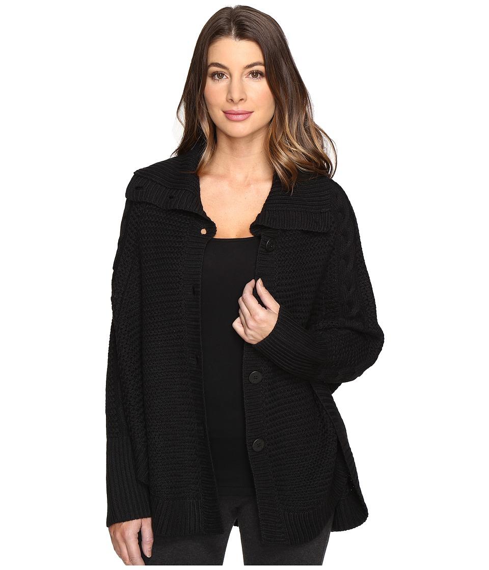 UGG - Maribeth Button Front Cape (Black) Women's Clothing