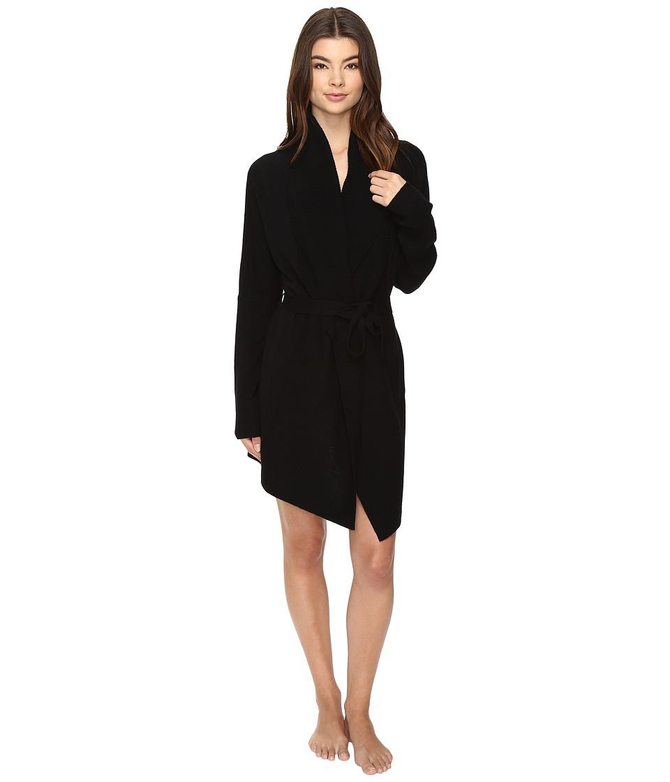 UGG - Cheyenne Cashmere Robe (Black) Women's Robe