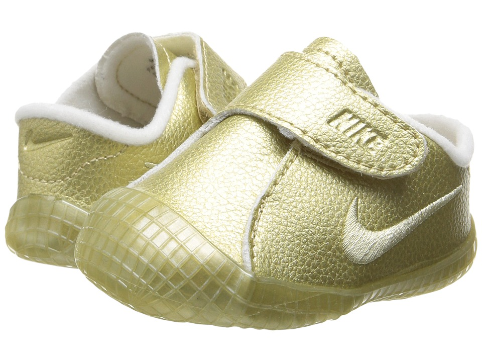 Nike Kids - Waffle 1 PRM (Infant/Toddler) (Metallic Gold Star/White/Metallic Gold Star) Boys Shoes
