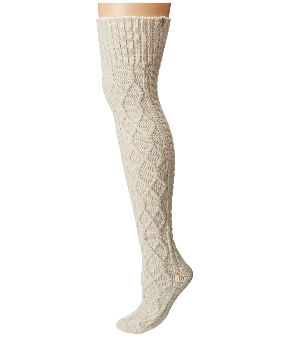 UGG - Classic Cable Knit Socks (Cream) Women's Knee High Socks Shoes