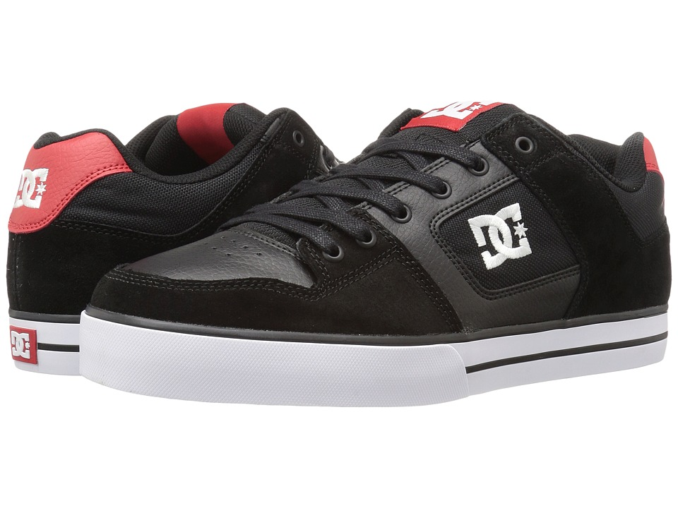 DC - Pure (Black/Athletic Red 2) Men's Skate Shoes
