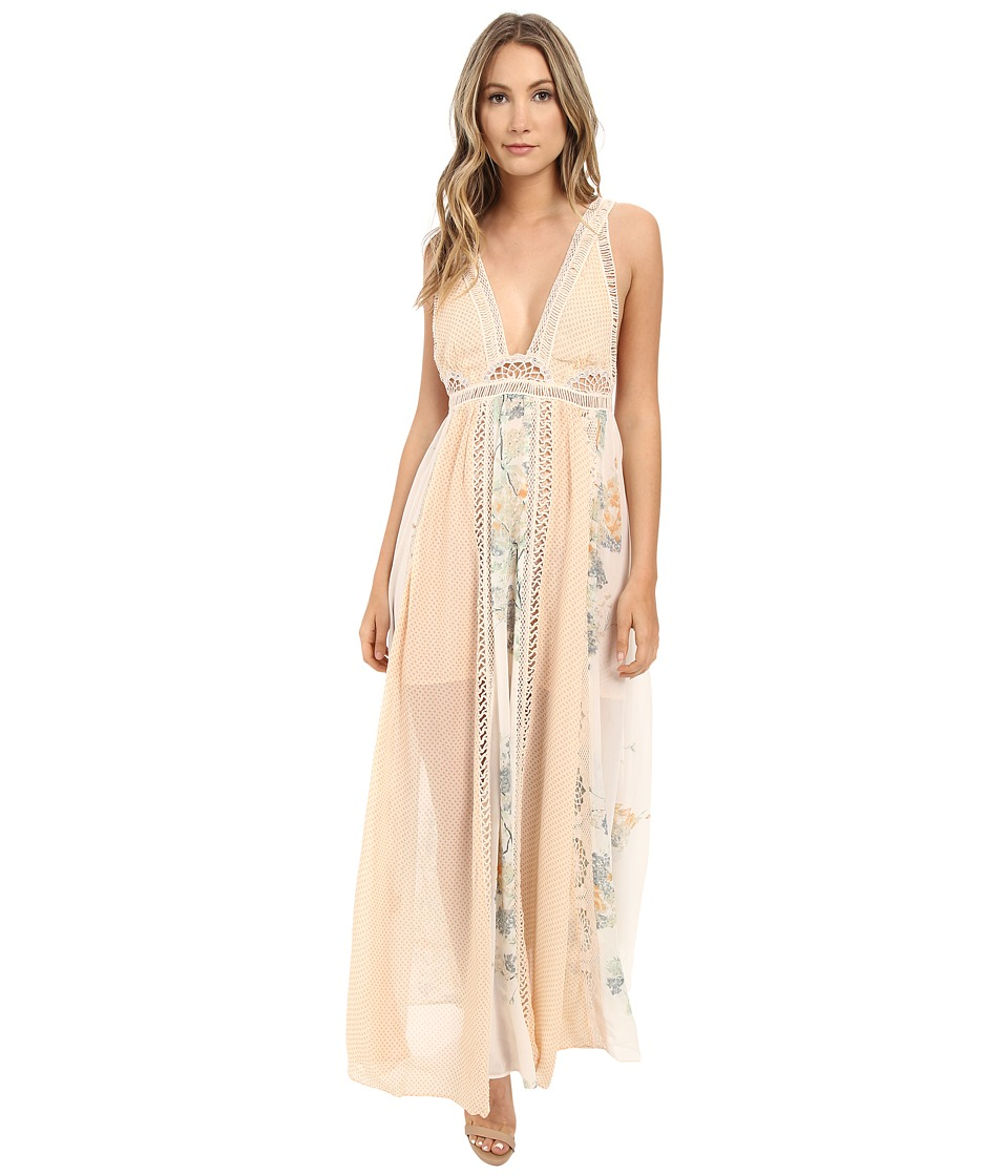 Free People - Queen of the Sun Maxi Dress (Neutral Combo) Women's Dress