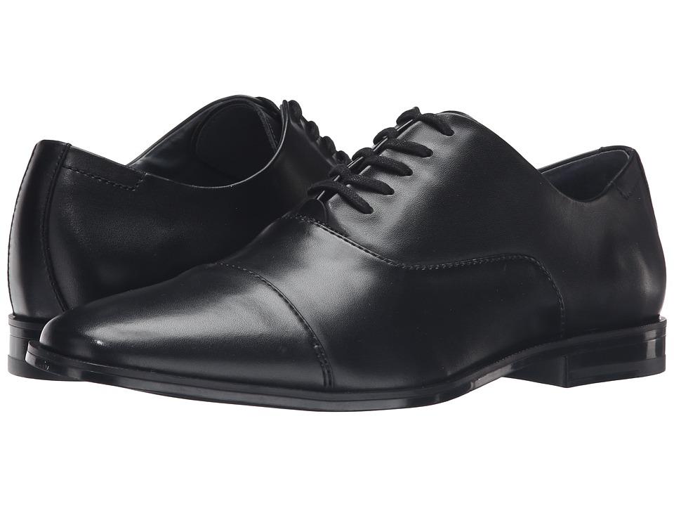 Calvin Klein - Neptune (Black Leather) Men's Shoes