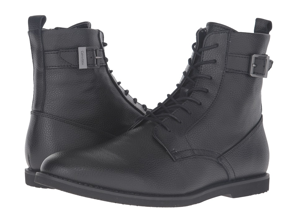 Calvin Klein - Farrin (Black Tumbled Action) Men's Shoes