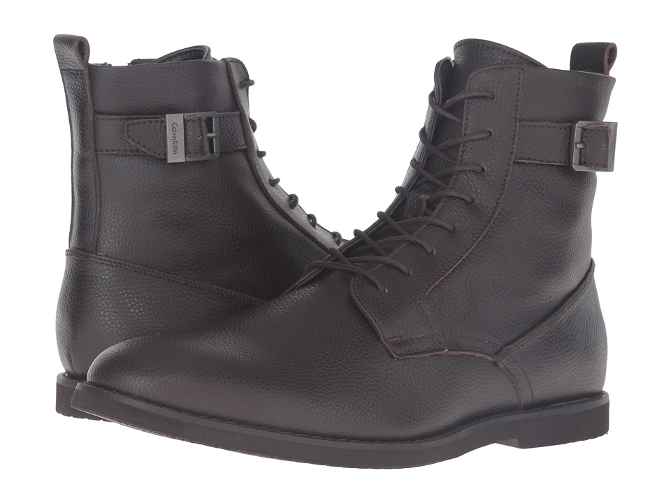 Calvin Klein Farrin (Dark Brown Tumbled Action) Men