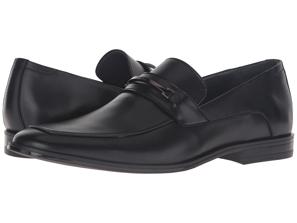Calvin Klein - Nikolas (Black Leather) Men's Shoes