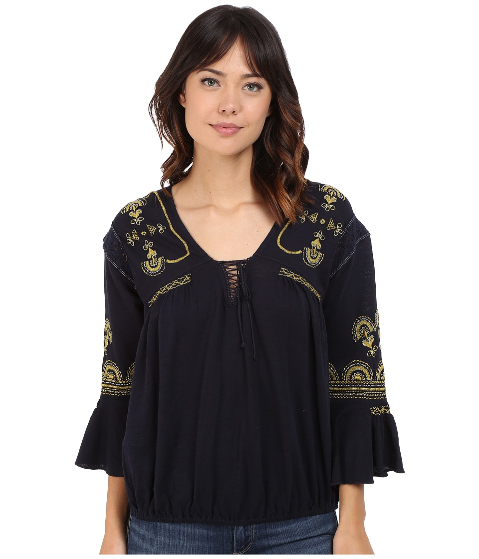 Free People - Chiquita Top (Indigo Combo) Women's Blouse