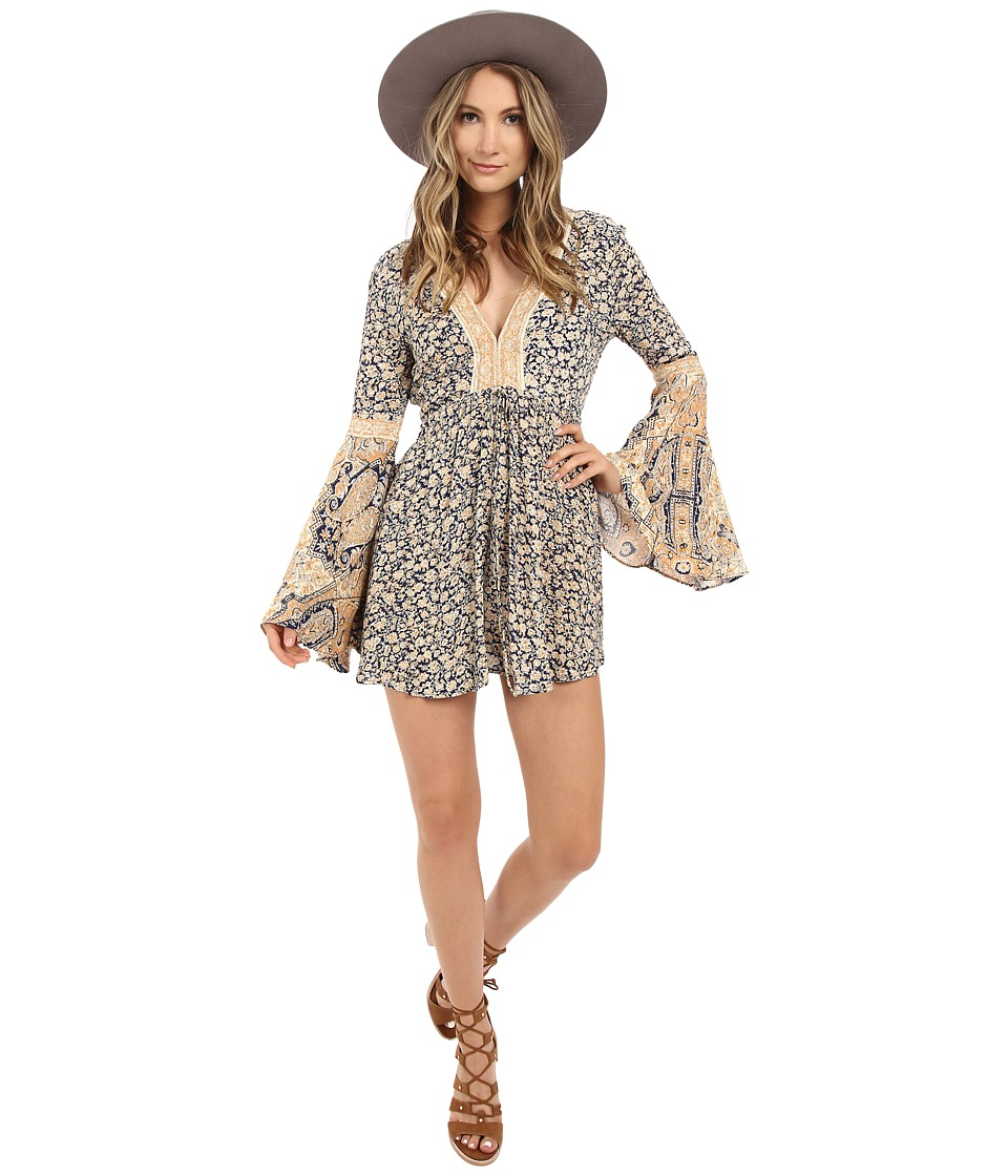Free People - Once Upon a Time Summertime Romper (Blue Combo) Women's Jumpsuit & Rompers One Piece