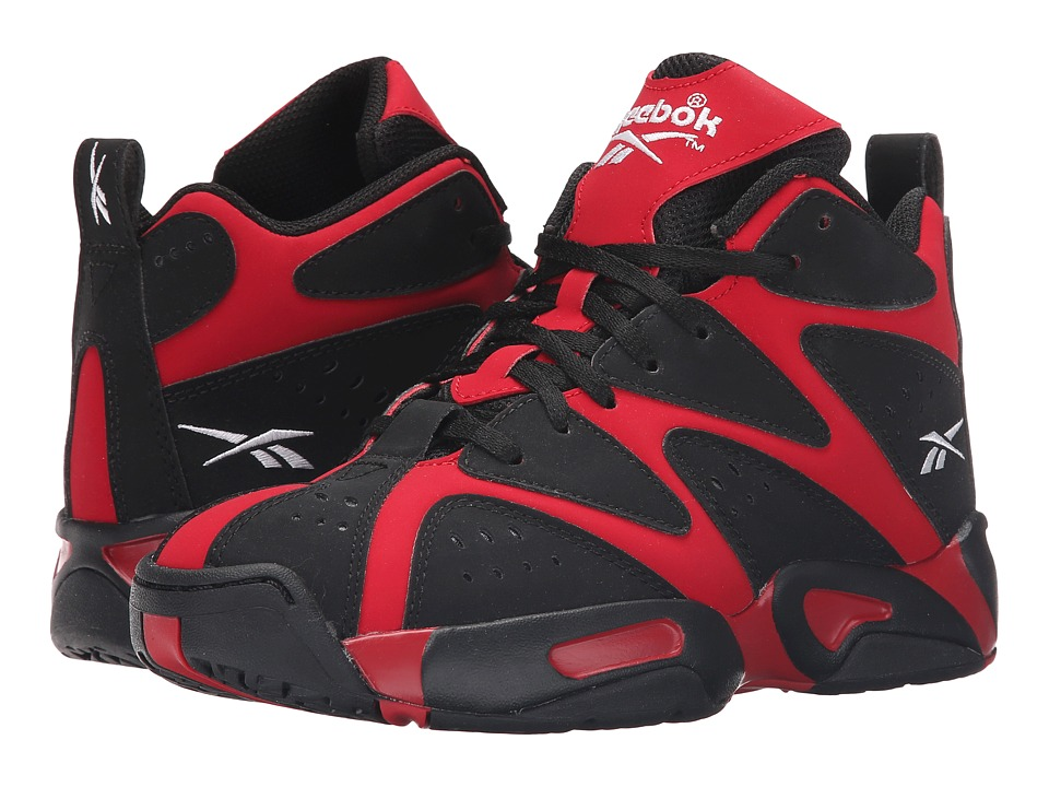 Reebok - Kamikaze I Mid (Big Kid) (Flash Red/Black/White) Shoes