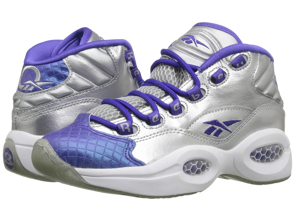 Reebok Kids - Question (Big Kid) (Silver Metallic/Ultima Purple) Kid's Shoes