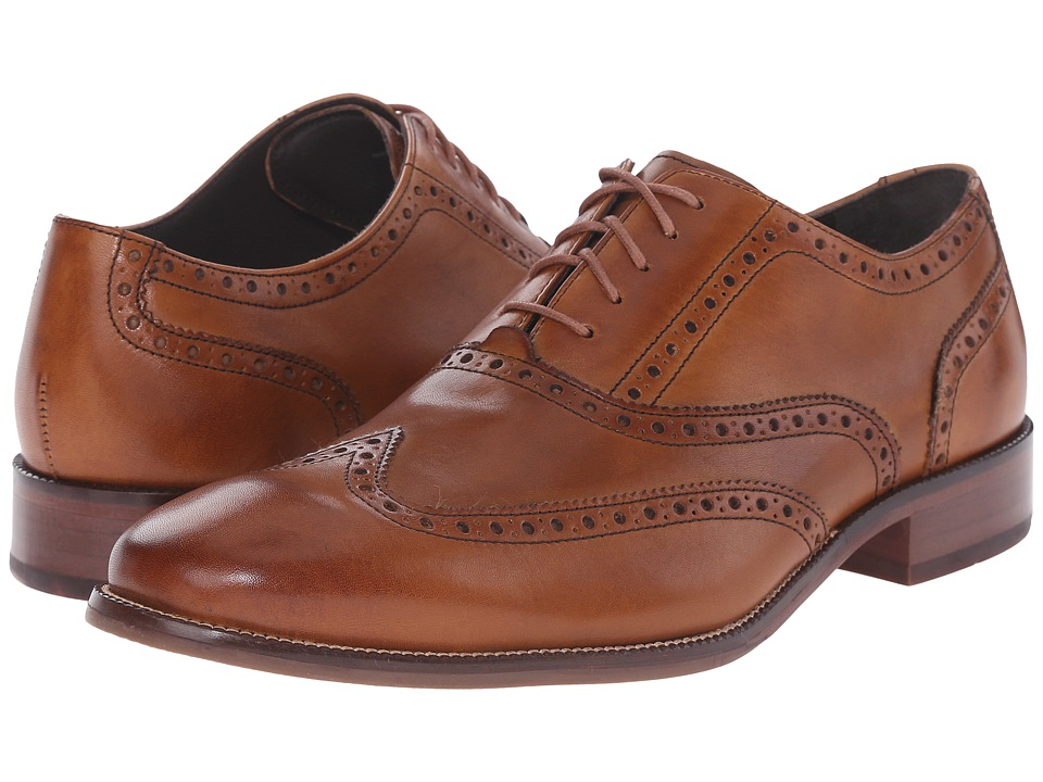Cole Haan - Williams Wingtip (British Tan) Men's Lace Up Wing Tip Shoes
