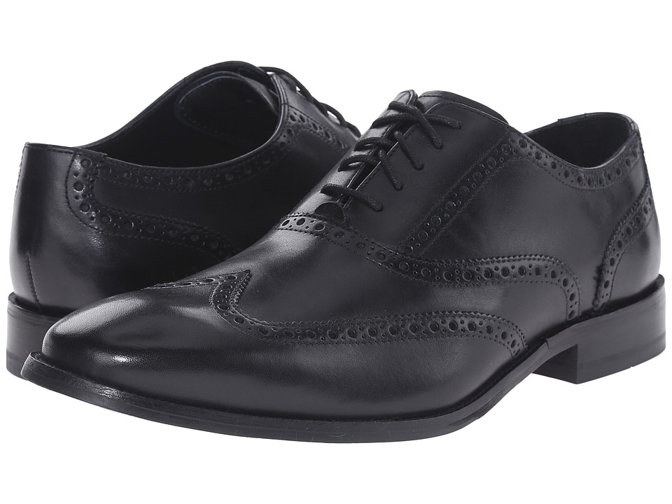 Cole Haan - Williams Wingtip (Black) Men's Lace Up Wing Tip Shoes
