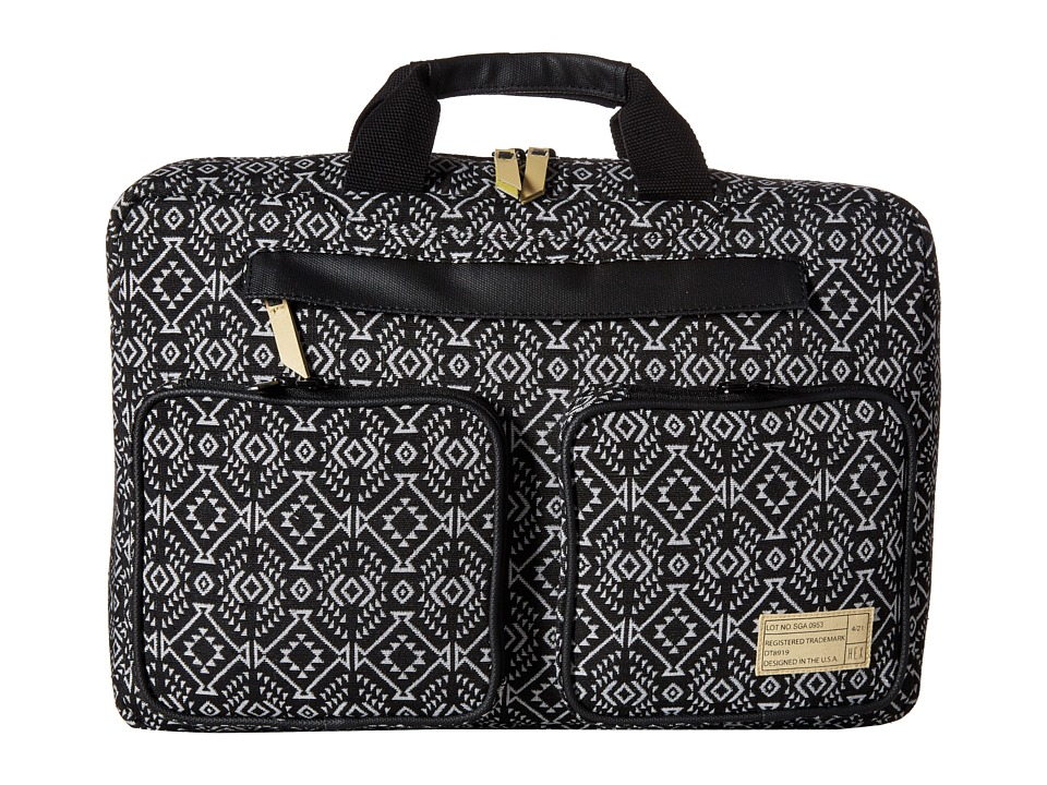HEX - Convertible Briefcase (Black/White) Briefcase Bags