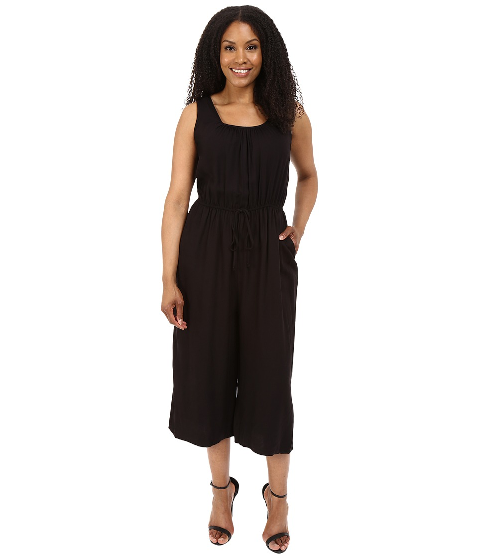 Christin Michaels - Plus Size Fiona Sleeveless Jumper (Black) Women's Jumpsuit & Rompers One Piece