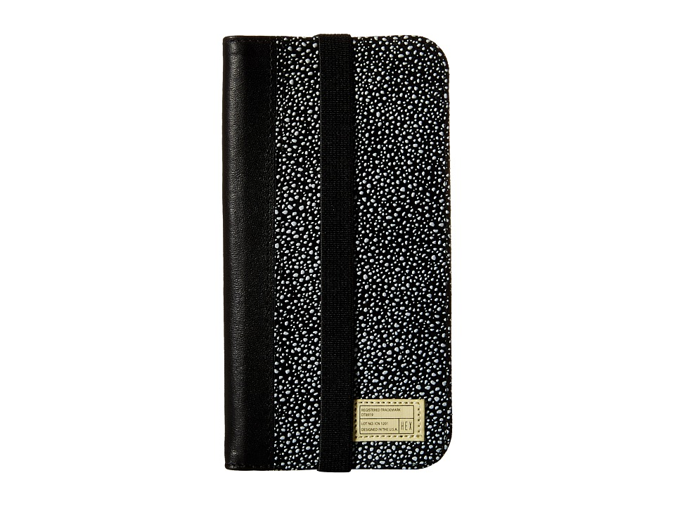 HEX - iPhone6/6S Icon Wallet (Black/White Stingray 2) Cell Phone Case
