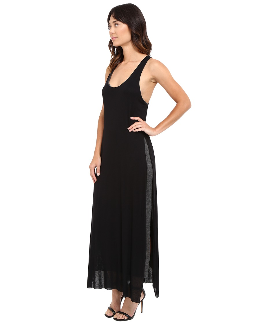 Culture Phit - Tauria Tank Maxi Dress with Side Slit (Black/Charcoal) Women's Dress