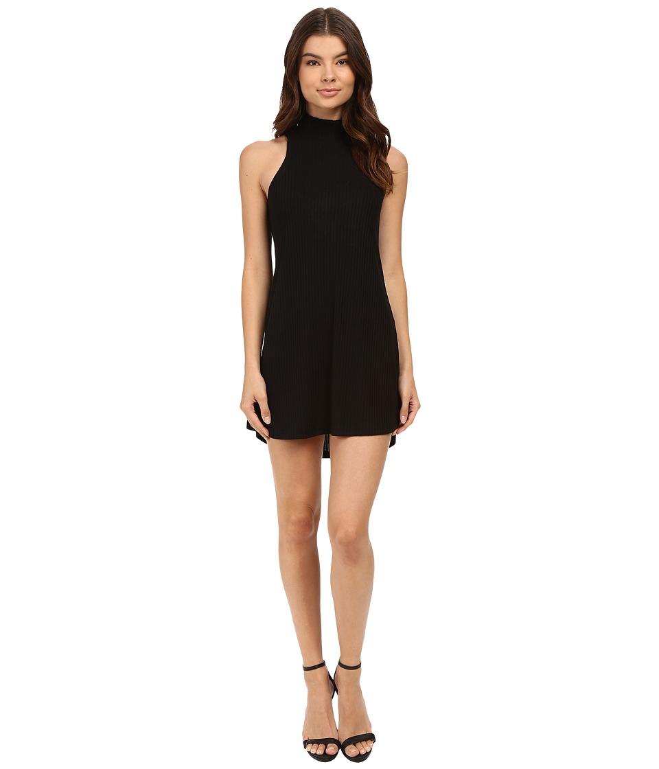 Culture Phit - Atarah Turtleneck Sleeveless Ribbed Dress (Black) Women's Dress