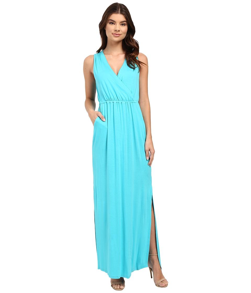 Culture Phit - Turia Cross Front Pocketed Dress (Aqua) Women's Dress