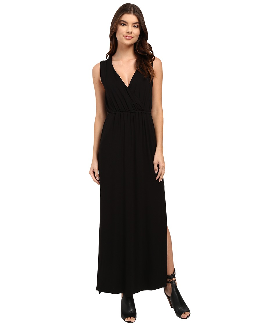 Culture Phit - Turia Cross Front Pocketed Dress (Black) Women's Dress