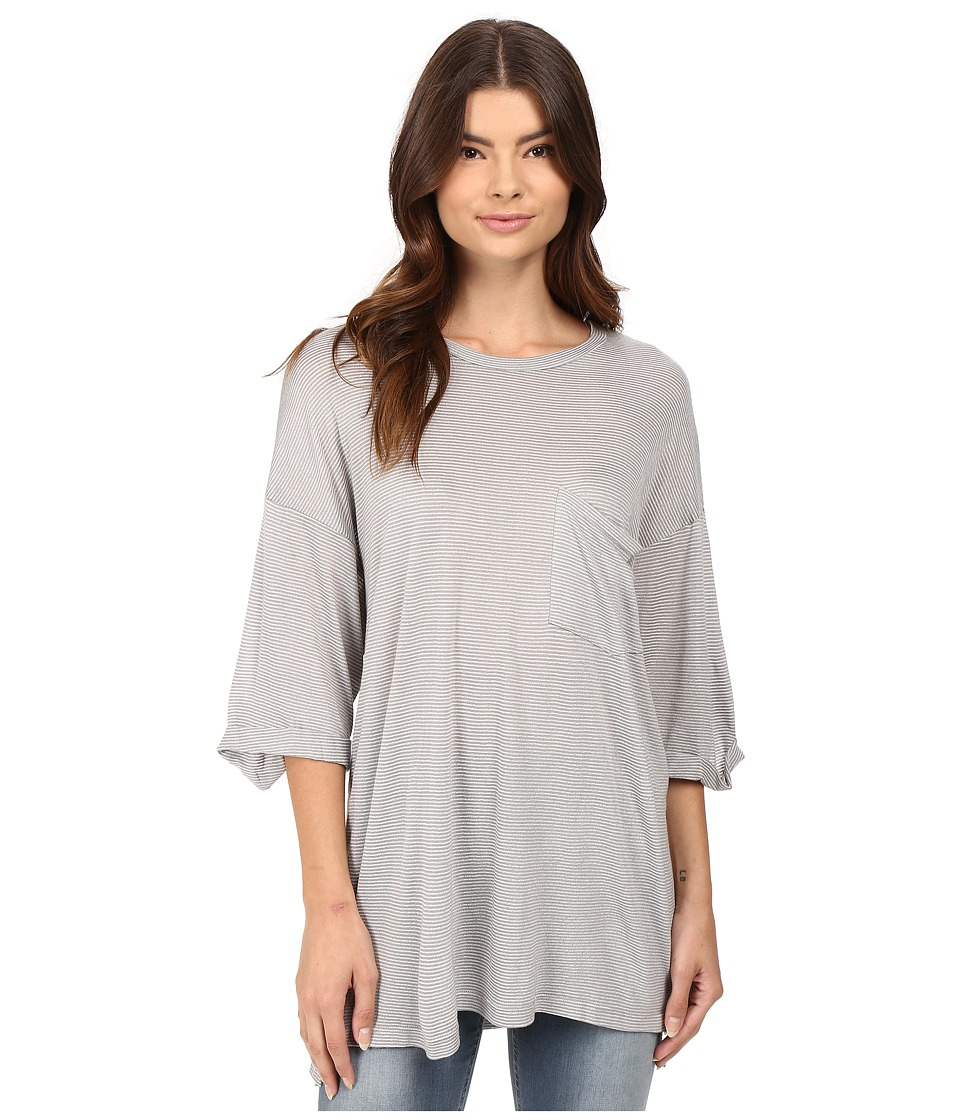 Culture Phit - Meriall Striped Top with Pocket (Grey) Women's Clothing