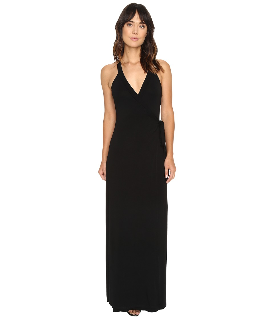 Culture Phit - Damiane Sleeveless Wrap Dress with Waist Tie (Black) Women's Dress