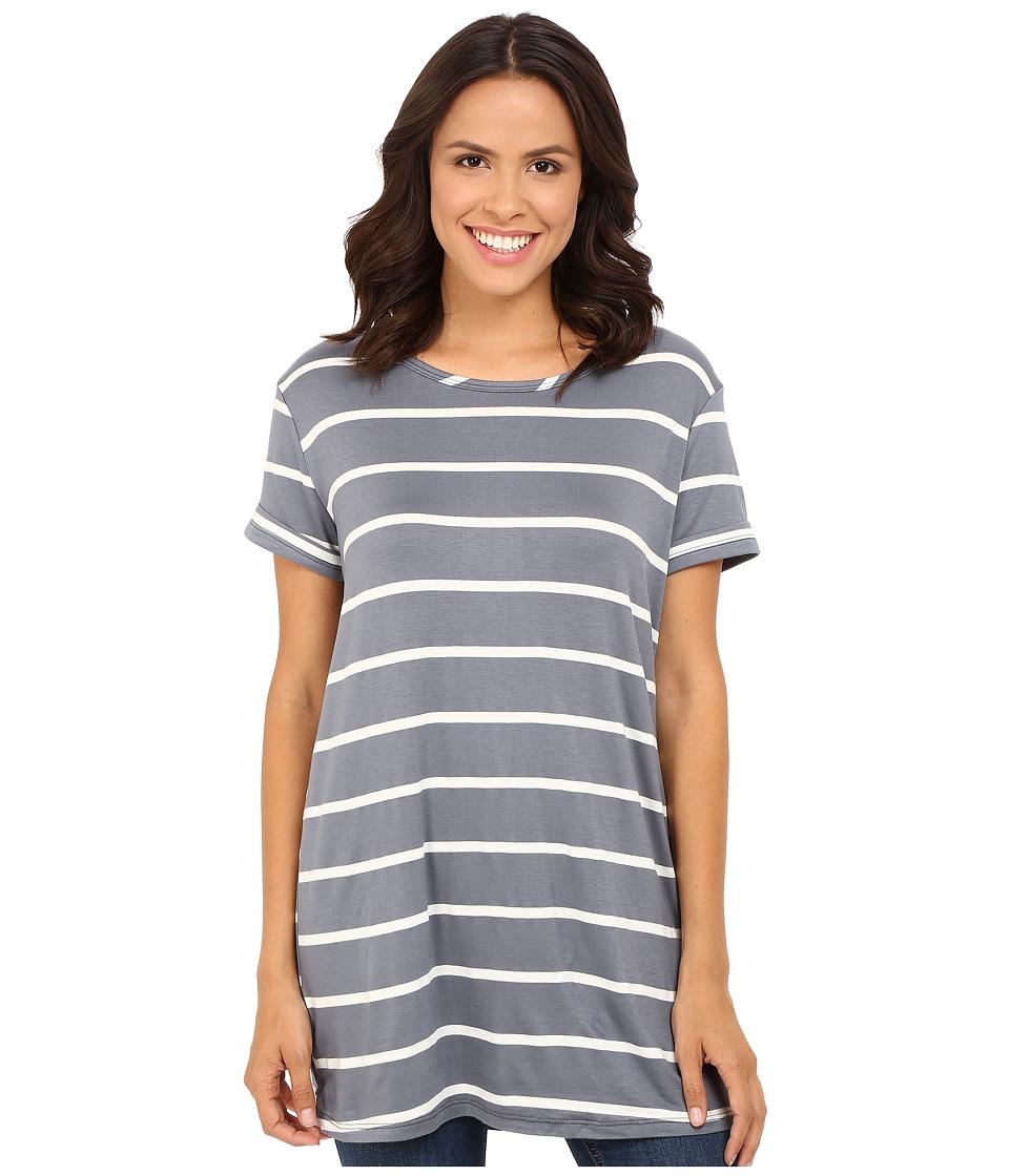 Culture Phit - Laelia Short Sleeve Boyfriend Tee (Indigo/Ivory) Women's T Shirt