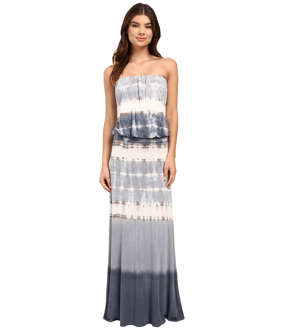 Culture Phit - Erin Strapless Tie-Dye Maxi Dress (Light Blue) Women's Dress
