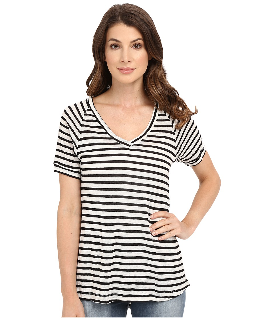 Culture Phit - Avita Short Sleeve Top (Black/Ivory) Women's Clothing