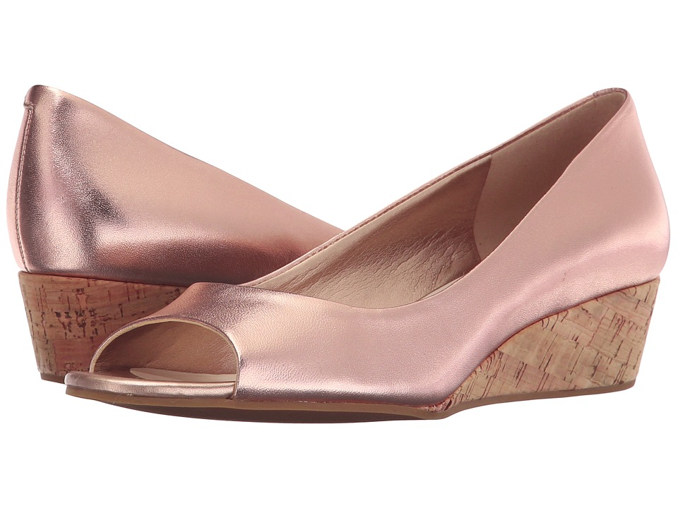 Cole Haan - Elsie Open Toe Wedge II (Rose Gold Metallic) Women