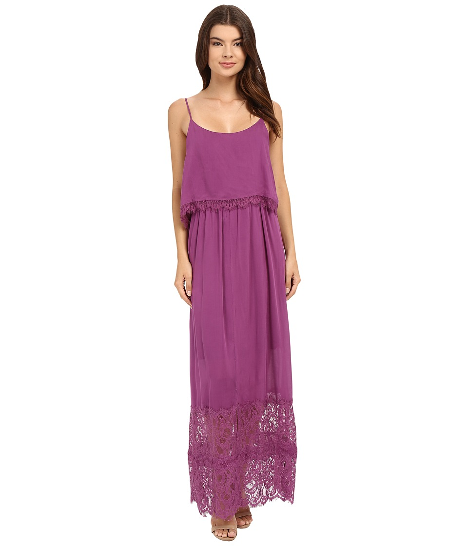 Brigitte Bailey - Lucia Maxi Dress with Lace Detail (Raspberry) Women's Dress