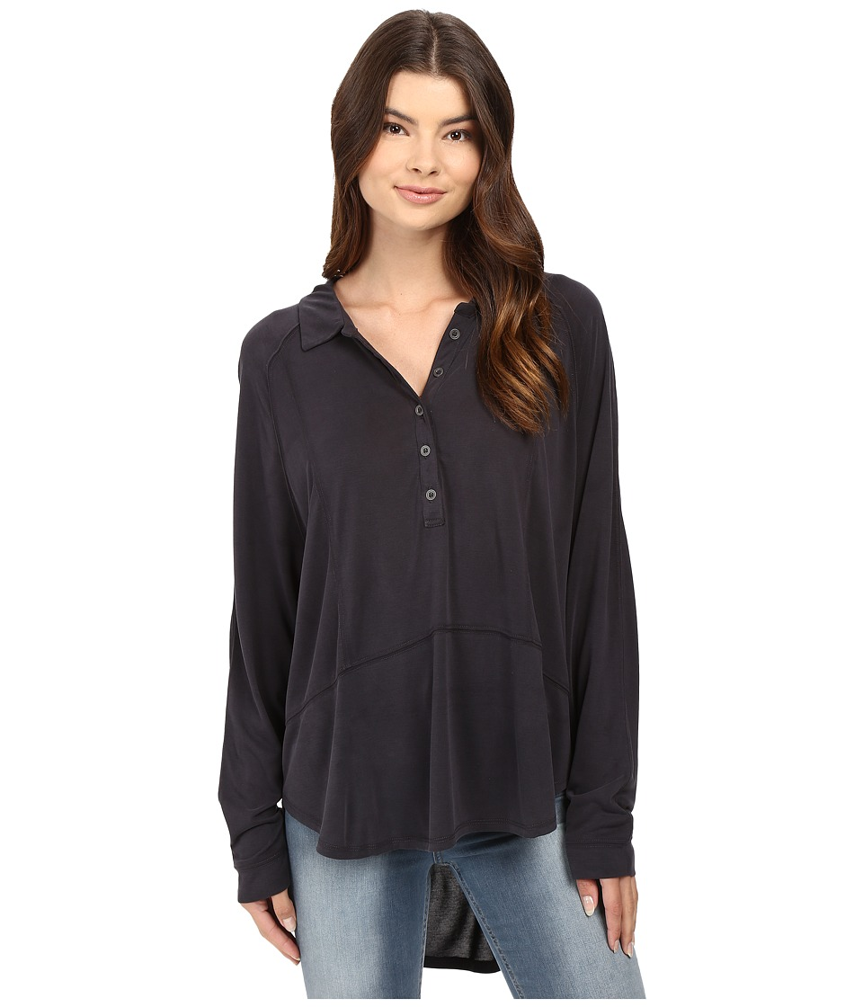 Free People - Rose Shirt (Black) Women's Clothing