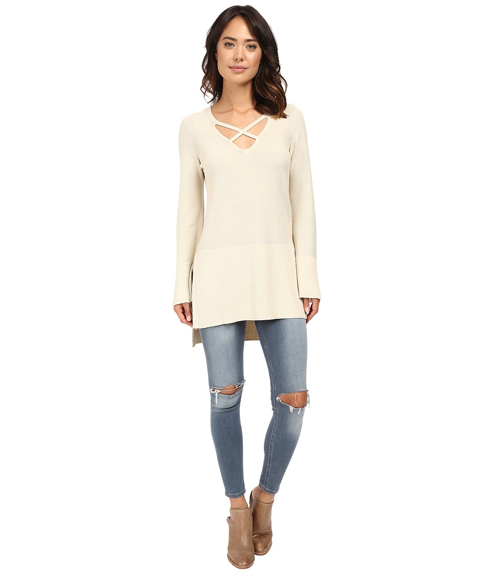 Free People - Crisscross Sweater (Ivory) Women's Sweater