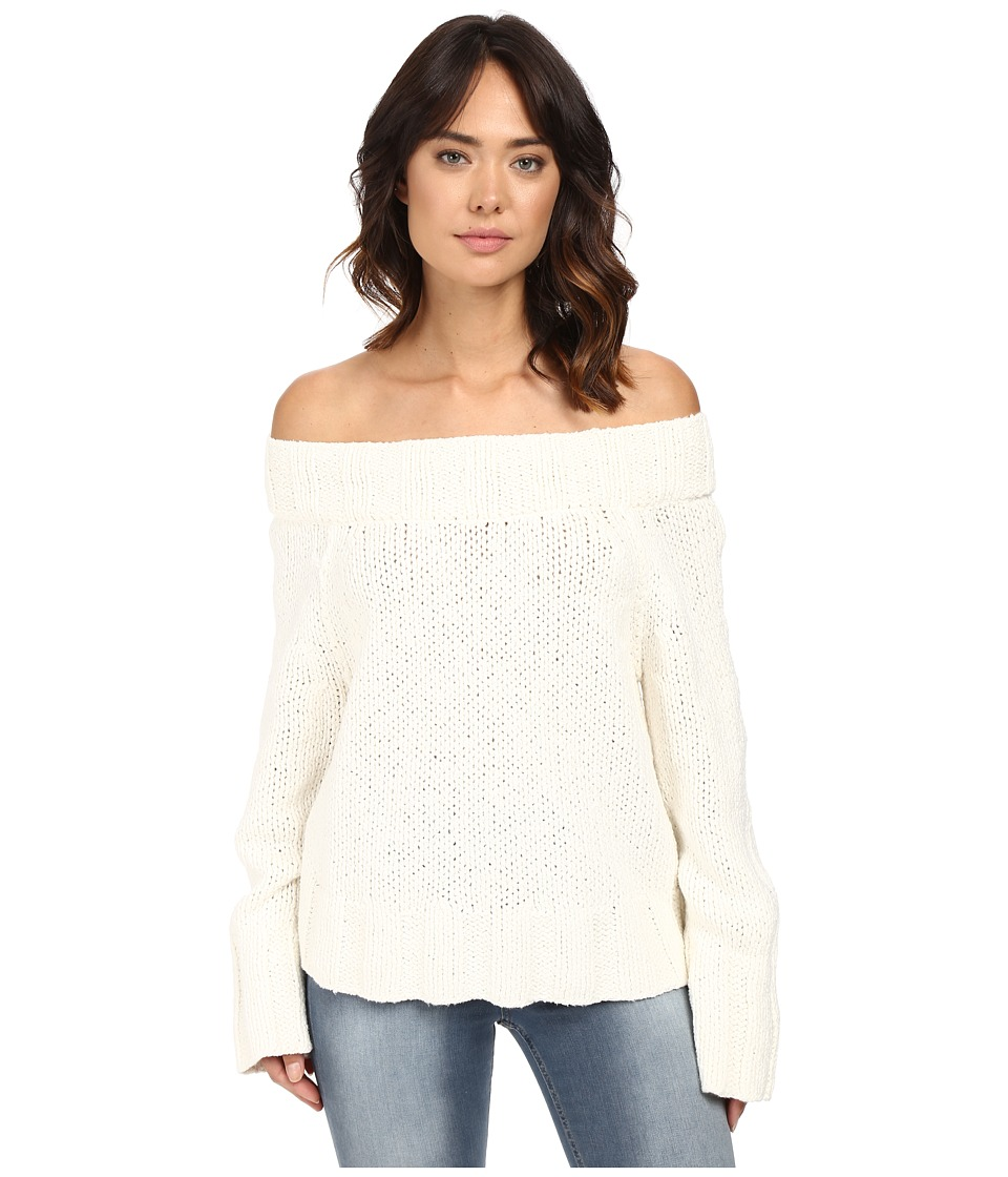 Free People - Beachy Slouch Pullover (Ivory) Women's Sweater