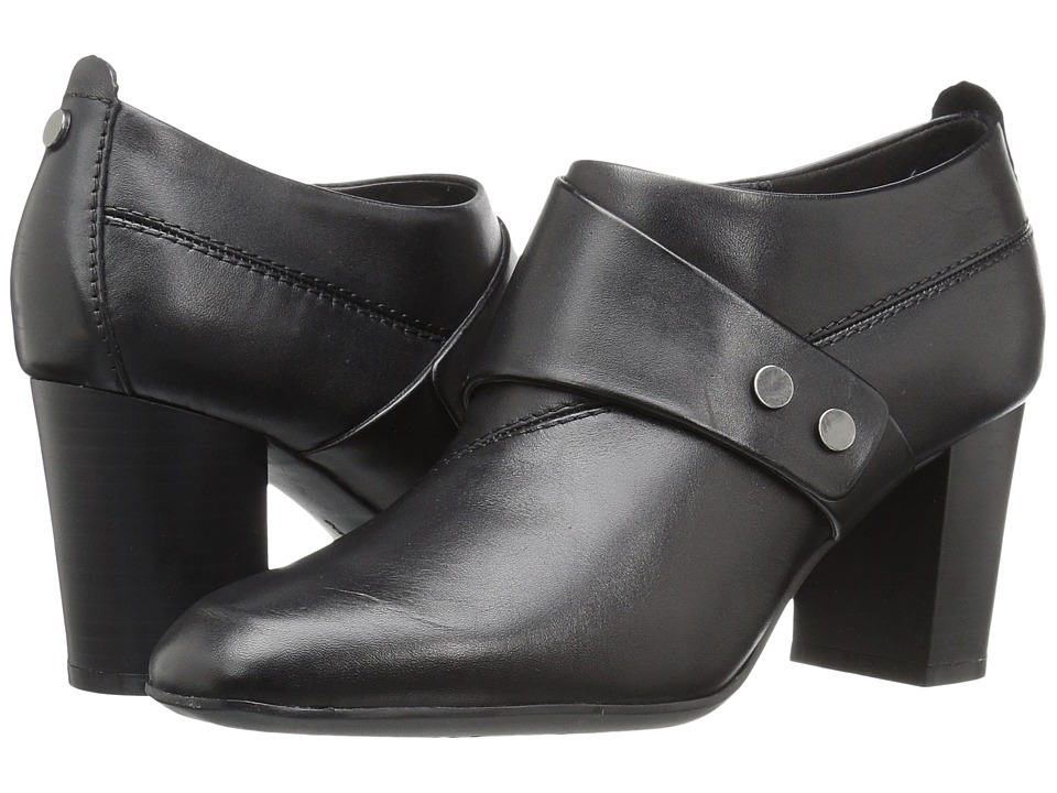 Easy Spirit - Aldea (Black Leather) Women's Shoes
