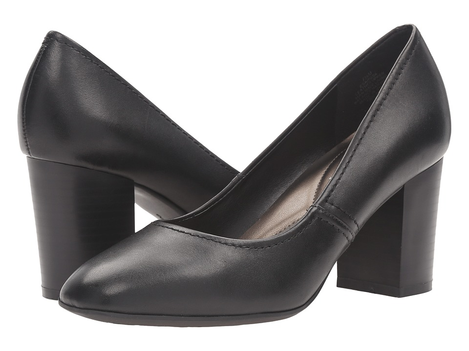 Easy Spirit - Arissa (Black Leather) Women's Shoes