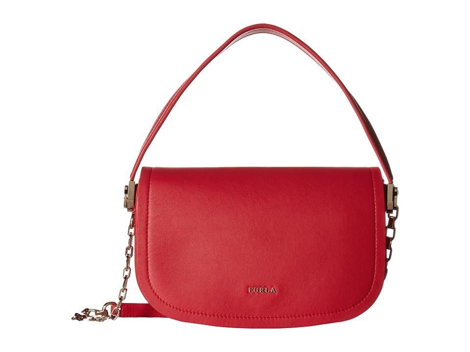 Furla - Luna Small Pochette (Rosso) Handbags