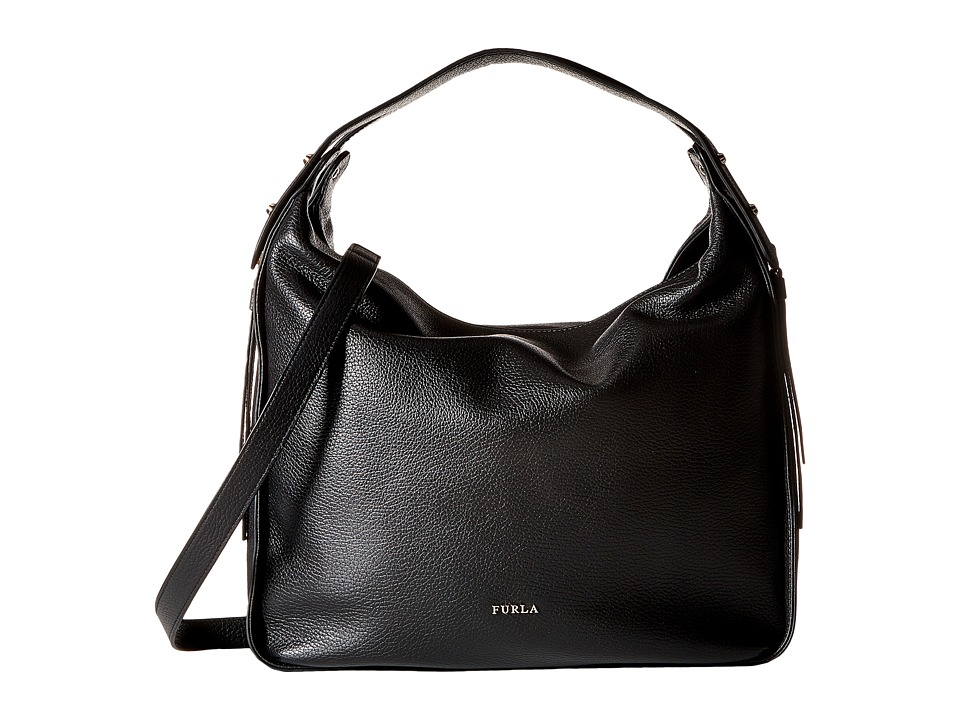 Furla - Eva Medium Hobo (Onyx) Hobo Handbags