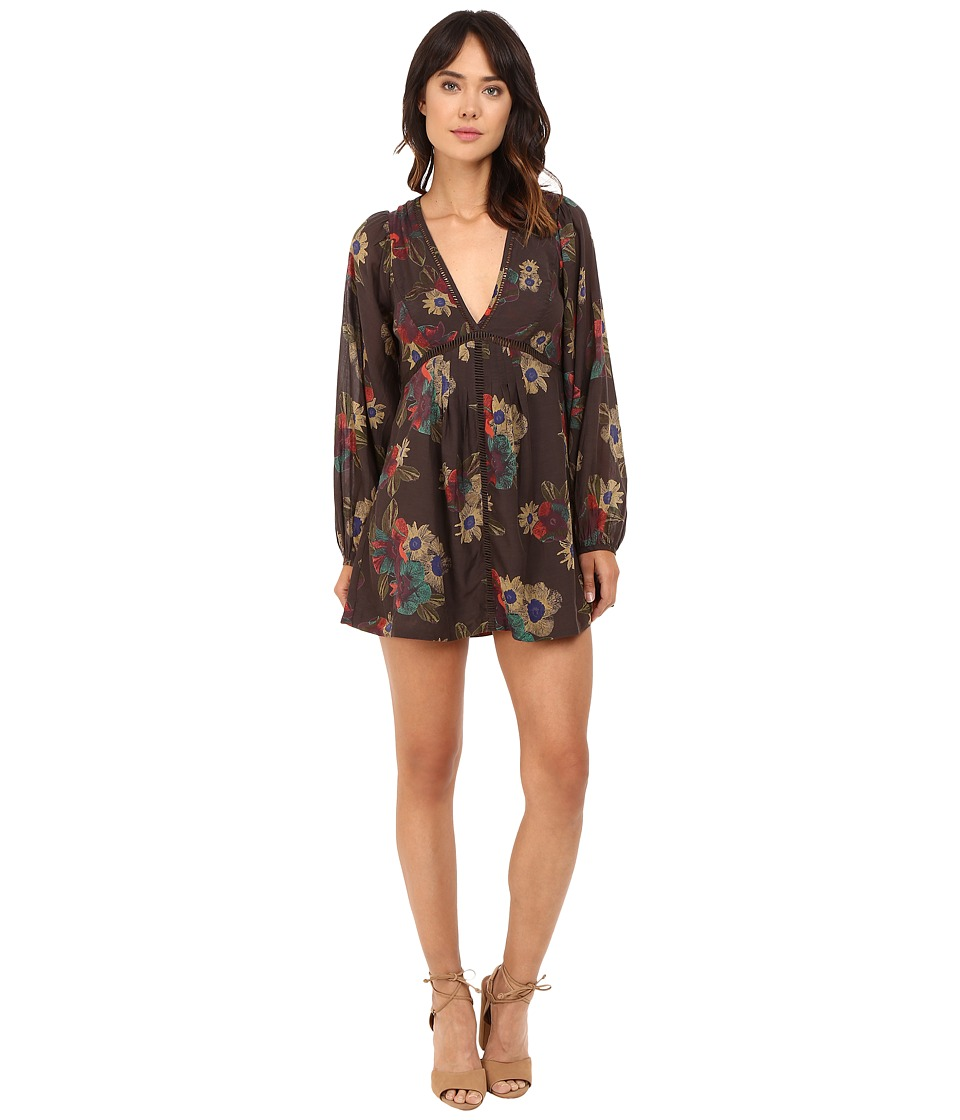 Free People - Strawberry Fields Mini Dress (Black Combo) Women's Dress