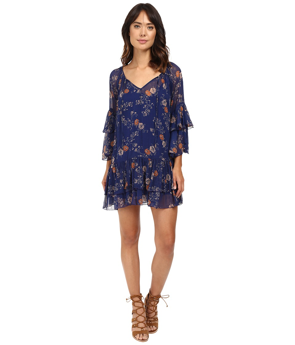 Free People - Sunsetter Mini Dress (Blue Combo) Women's Dress