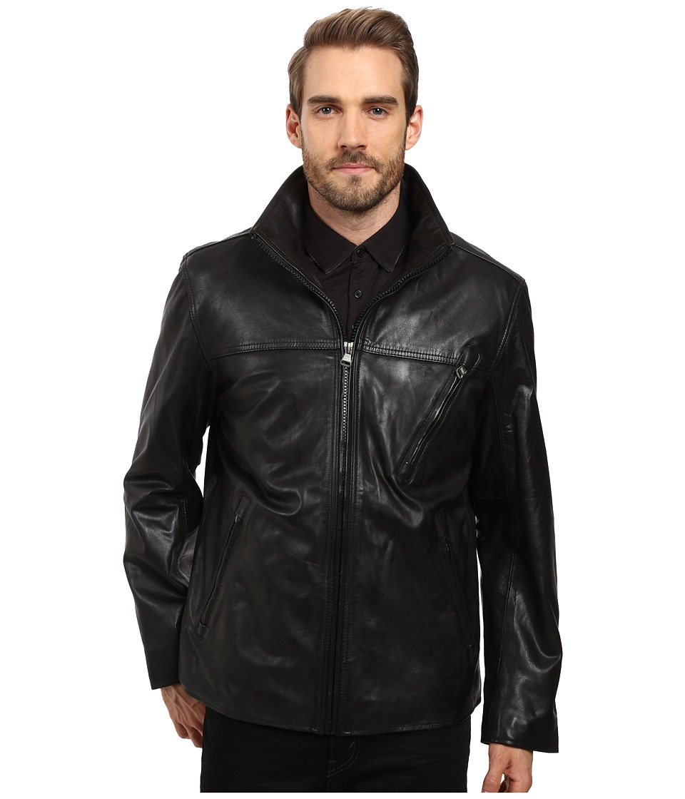 Marc New York by Andrew Marc - Plymouth Leather Jacket (Black) Men's Coat